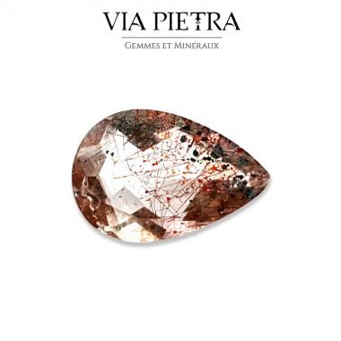 Quartz avec Inclusions Hématite / Lepidocrocite, Rutile, Goethite, Super 7, super seven, sacred seven stone, melody stone