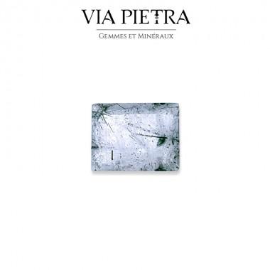 Quartz Rutile Brésil, cheveux de Vénus, noir
