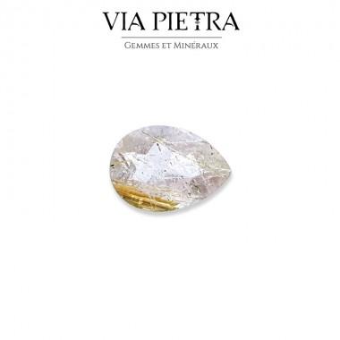 Quartz Rutile Brésil, cheveux de Vénus, doré or