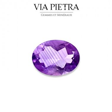 Améthyste naturelle Brésil, taille gemme, joaillerie, bijouterie, lithothérapie, zonage