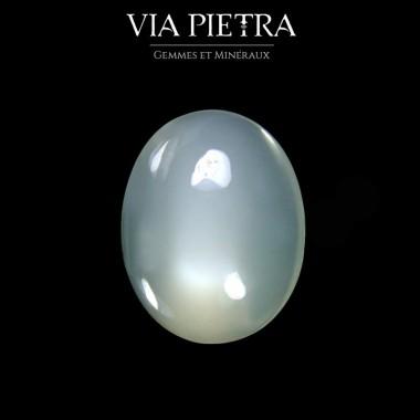 Pierre de lune laiteuse sans reflet blanche