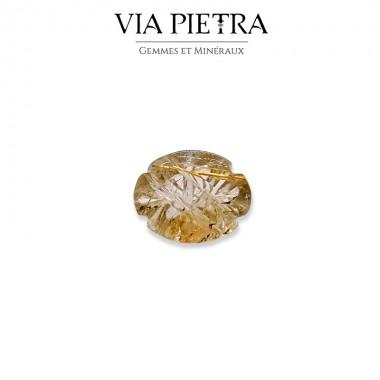 Quartz Rutile Brésil, cheveux de Vénus, doré or Taille fantaisie