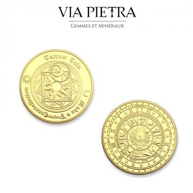 Pièce cosmique constellation doré or aztec maya