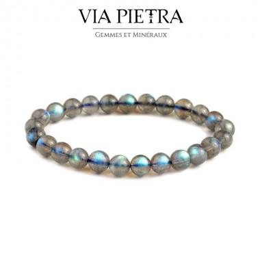 Bracelet Labradorite lithothérapie, propriété, vertu, litho, bien être, bienfait, soin par les pierres