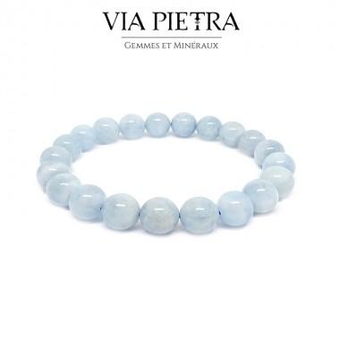 Bracelet Aigue-Marine lithothérapie, propriété, vertu, litho, bien être, bienfait, soin par les pierres