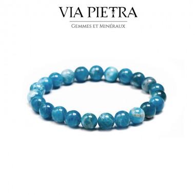 Bracelet Apatite lithothérapie, propriété, vertu, litho, bien être, bienfait, soin par les pierres