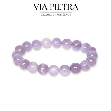 Bracelet Améthyste Lilas lithothérapie, propriété, vertu, litho, bien être, bienfait, soin par les pierres