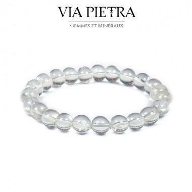 Bracelet Quartz Cristal de roche lithothérapie, propriété, vertu, litho, bien être, bienfait, soin par les pierres