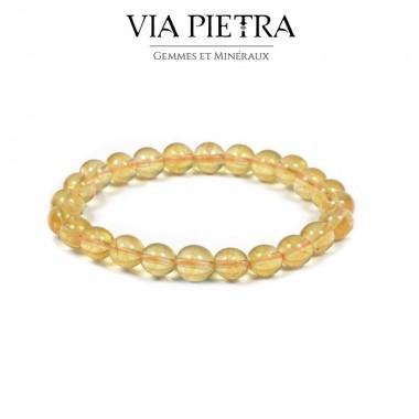 Bracelet Citrine lithothérapie, propriété, vertu, litho, bien être, bienfait, soin par les pierres