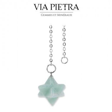 Pendule Merkaba Aventurine, radiesthésie, divinatoire