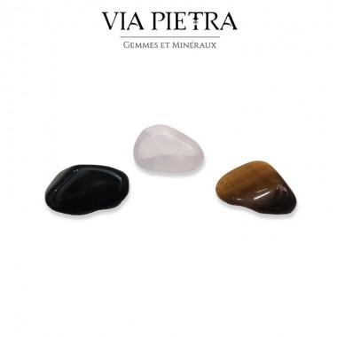 Pierres de protection, pierres bouclier, protection oeil de Tigre, protection obsidienne