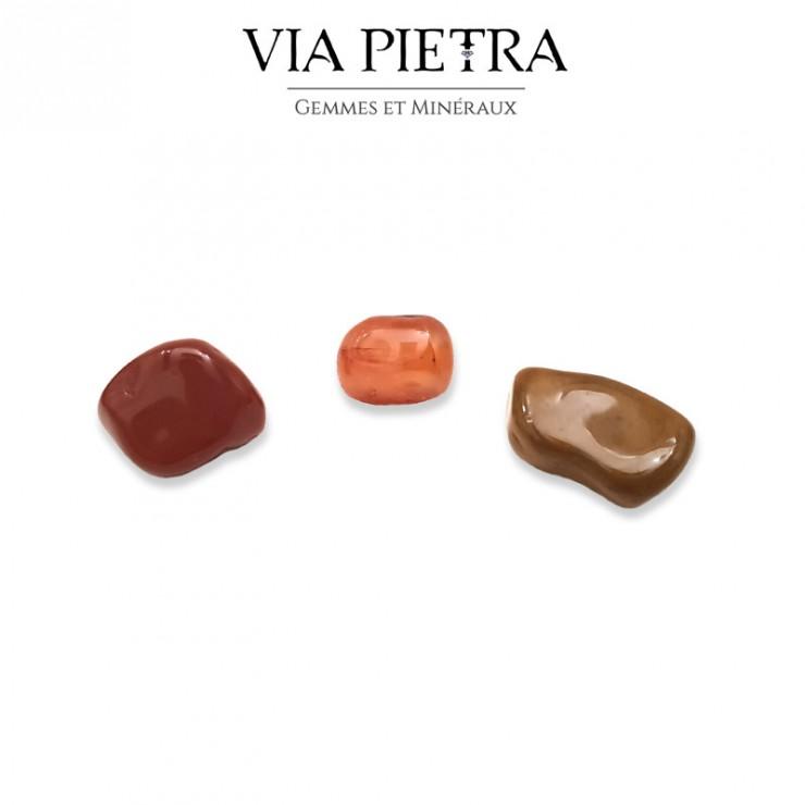 Pierre vitalité, cornaline, jaspe rouge, jaspe jaune, énergie, good vibes