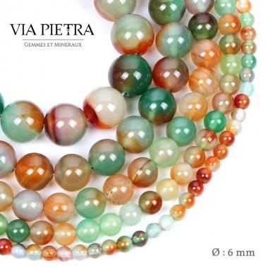 Perles Agate paon création, perles Agate 6mm, perles en pierre naturelle
