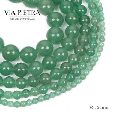Perles aventurine verte création, perles aventurine 6mm, perles en pierre naturelle
