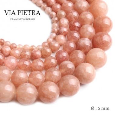Perles pierre de Soleil création, perles Pierre de soleil 6mm, perles en pierre naturelle