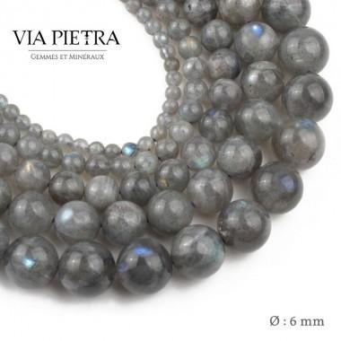 Perles Labradorite création, perles Labradorite 6mm, perles en pierre naturelle