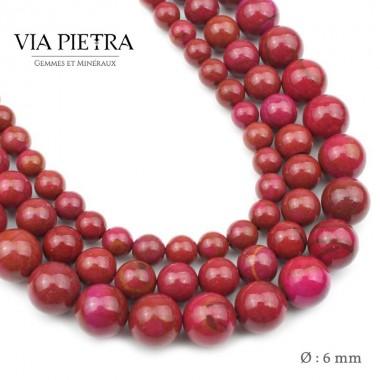 Perles Jaspe rouge création, perles Jaspe rouge foncé 6mm, perles en pierre naturelle