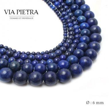 Perles Lapis Lazuli création, perles Lapis 6mm, perles en pierre naturelle